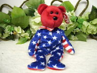 TY BEANIE BABIES BEARS LIBERTY PATRIOTIC RED WHITE & BLUE THEME 2002