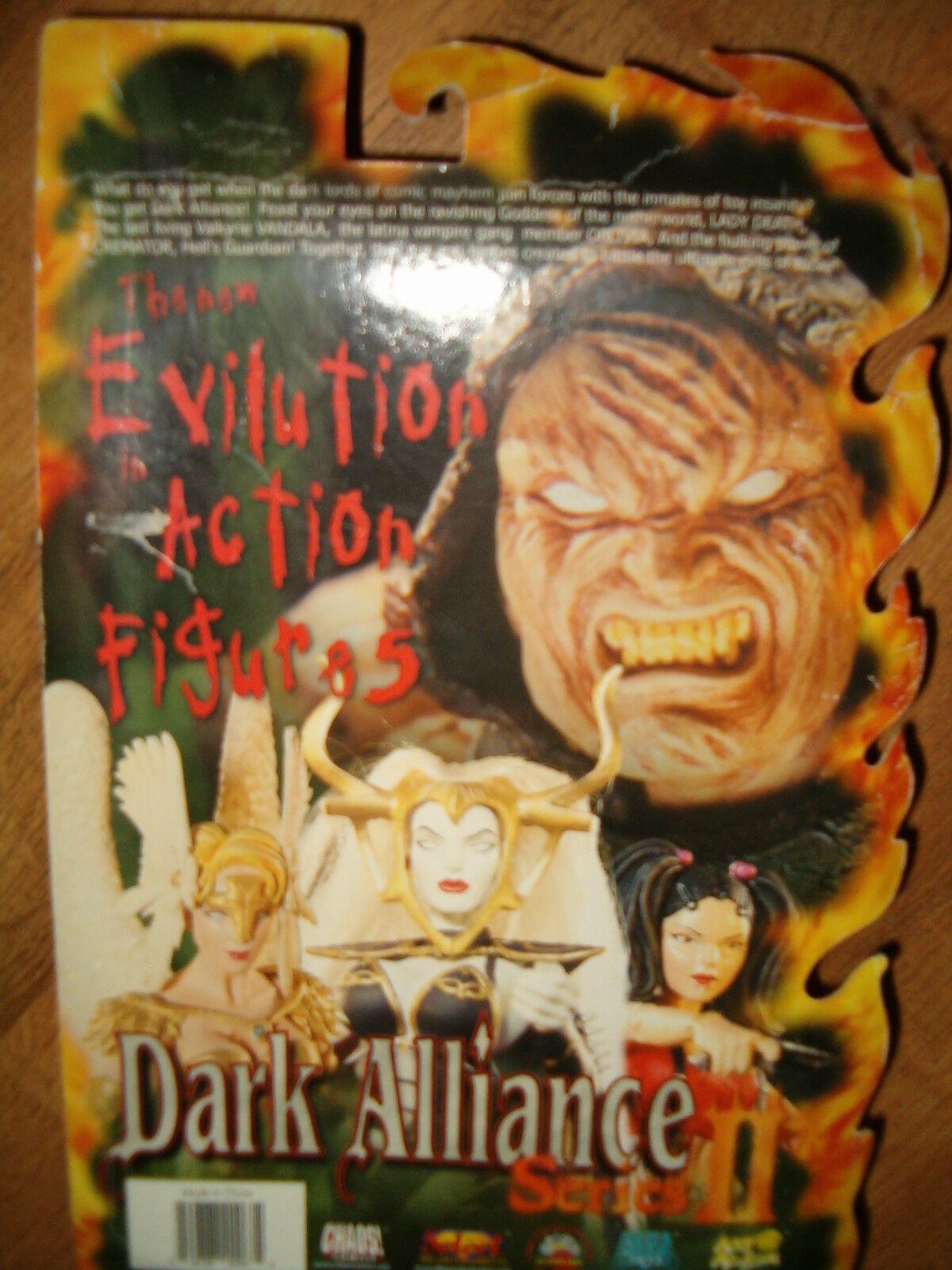 Dark Alliance Series 2 Lady Death & Wolf Action Figures Set  RARE