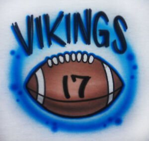 Airbrushed-Football-with-Team-Name-Shirt-Personalized-with-name