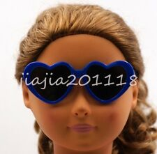 Blue Heart-shaped Glasses Sunglasses Goggles Fit For 18/'/' American Girl Dolls