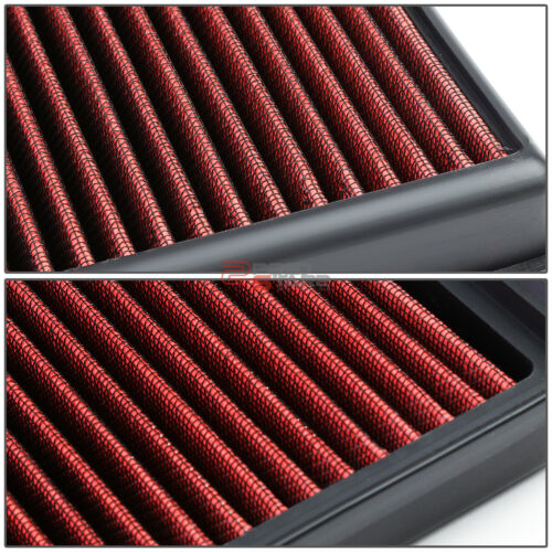 RED REUSABLE HIGH FLOW DROP-IN PANEL AIR FILTER FOR BMW 5//6//7//X SERIES 3.0L