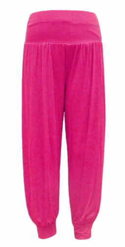 Mom Kids Plain Harem Trousers Pants Ali Baba Leggings Baggy Aladin Boho Hippy