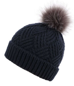 Details about Fashion Winter Warm Ski Hat Winter Thick Fleece Lined Knit Beanie  Fur Ball Cap 372fa92cc68