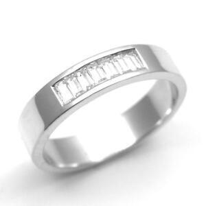 Diamond Set Baguette Wedding Band Channel Set Platinum (950) UK ...