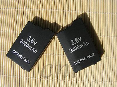 2X  BATTERY PACK FOR SONY PSP 3000 3001 3003 3004 lite  2400mAH