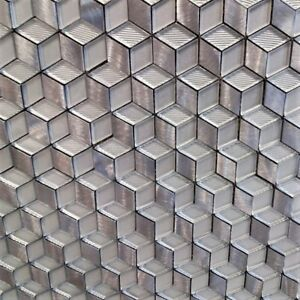 Details About Amazing Silver Gl Square Mosaic Tiles Walls Floors Bathroom Kitchen