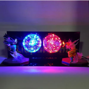 Details About Rare Dragon Ball Z Vegeta Goku Up Led Light Lamp Action Figure Whole Set