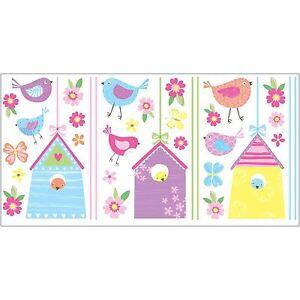 Oiseau-Maisons-35-Autocollant-Mural-Neuf-Chambre-Decor