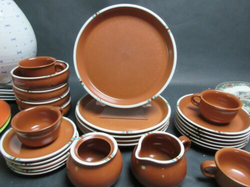 4 Dansk MESA Terracotta Brown Saucers Only Japan