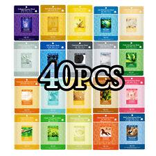 40 PCS Korean Essence Facial Mask Sheet, Moisture Face Mask Pack Skin Care Lots