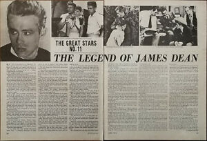 James Dean The Legend Of James Dean Vintage Film Star Article 1972