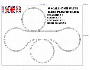 GARDEN-G-SCALE-45mm-GAUGE-RAIL-PLASTIC-RAILWAY-TRACK-LAYOUT-BATTERY-STEAM-TRAIN