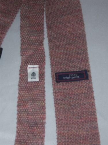 Carl Michaels Lavender Tweed Double Knit Sock Tie 100/% Wool Made in USA  NEW