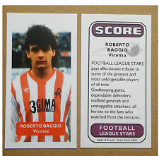 ITALY - VICENZA - ROBERTO BAGGIO Score UK football trade card