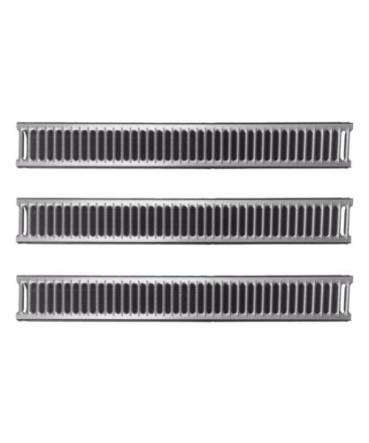 PACK OF 3 DRAINAGE CHANNEL PLASTIC /& METAL GRATING LIBERTY PLAS DRAIN WATER