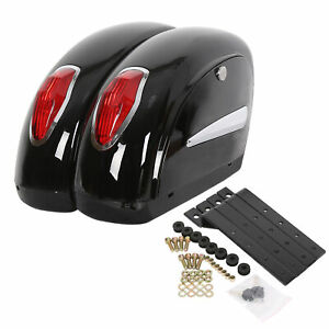 Black-Universal-Motorcycle-Saddle-Bag-Saddlebags-Trunk-For-Honda-Harley-Yamaha