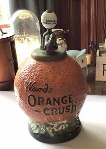 Wards Orange Crush Soda Fountain Syrup Dispenser w/ 1917 Pump