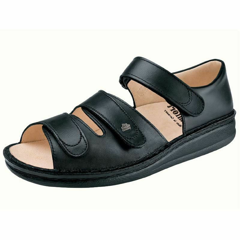 Finn Women's Baltrum Leather Sandals Black Nappa 1518-001099