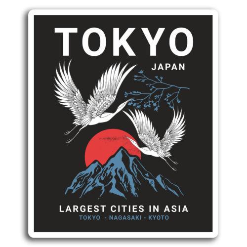 Sticker Laptop Luggage #19418 2 x 10cm Tokyo Japan Japanese Fun Vinyl Stickers