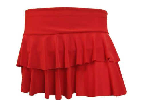 NEW LADIES VERY HOT RED MINI RARA SKIRTS SIZES 8-14