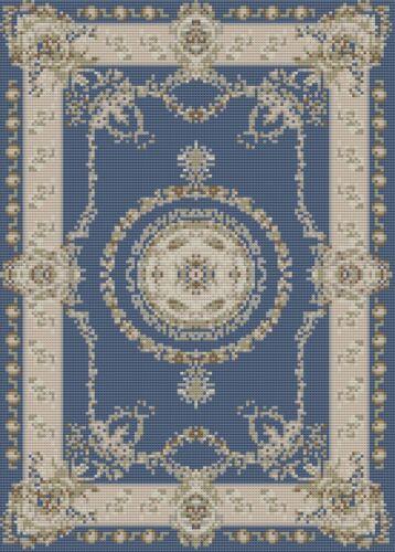 Dolls House Blue /& Cream Carpet Stitch Kit by Florashell