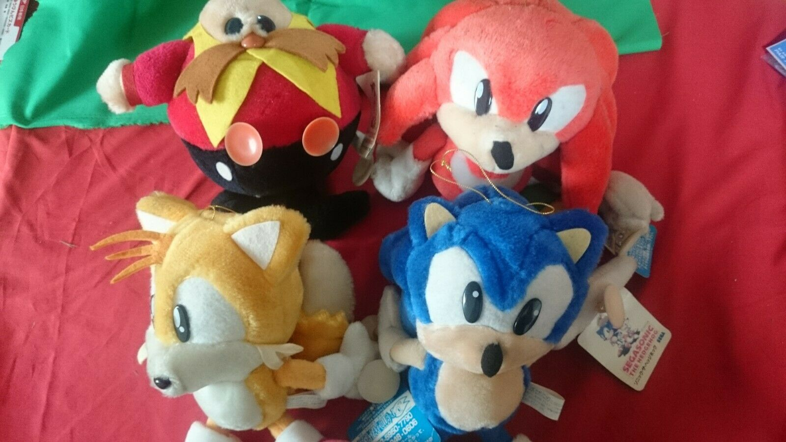 Sonic the Hedgehog Plush Stuffed Doll 10  Jumbo Suction Cups Toy SEGA JAPAN 1995