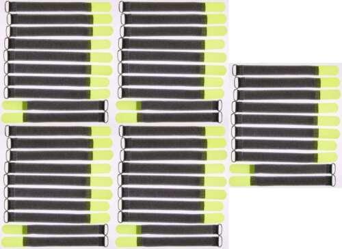 50x Bande velcro serre-câbles FK 20 cm x 20 mm Fluo jaune Velcro Bandes kabelklettband