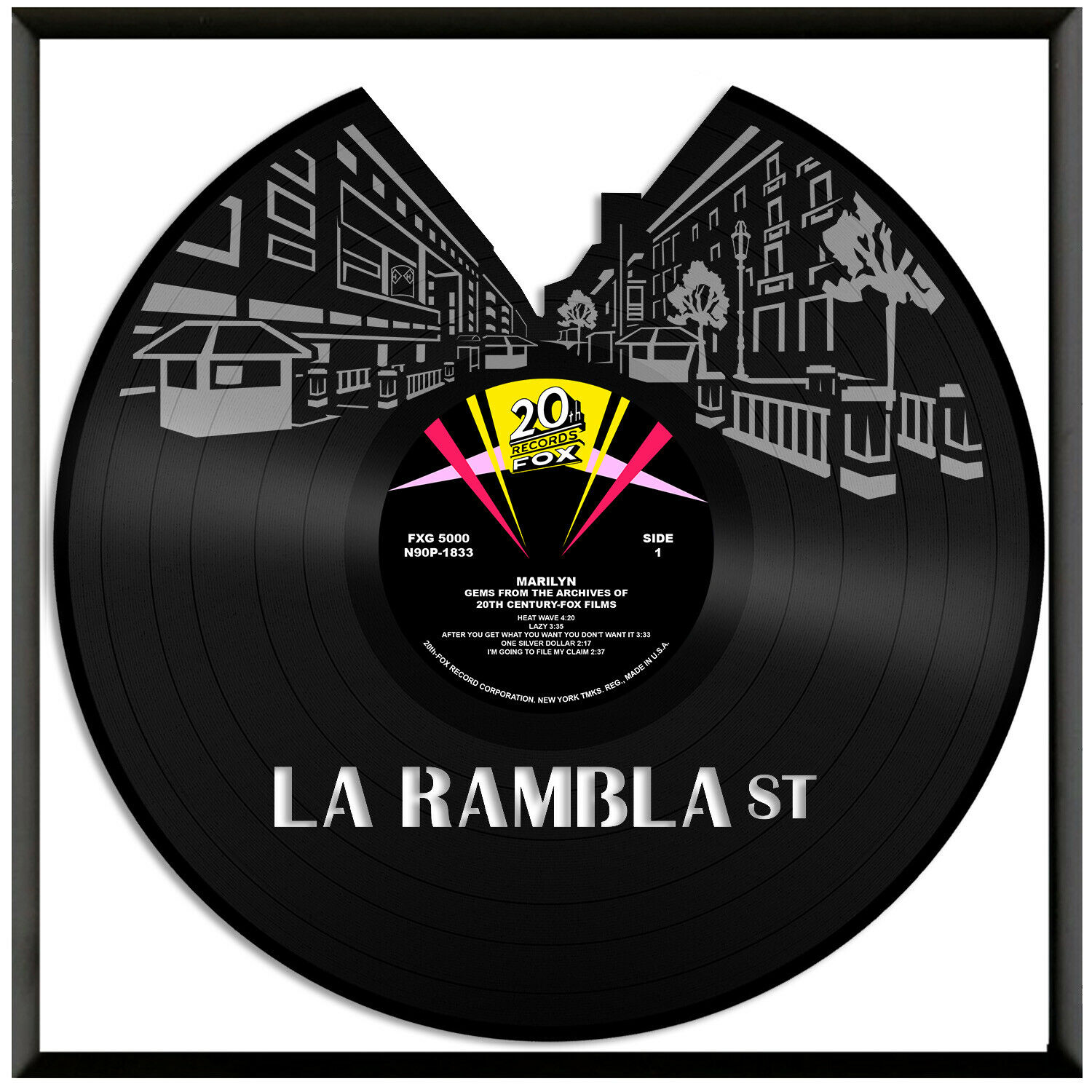 La Rambla ST Vinyl Wall Art Exclusive Gift for Friends Home Decoration Framed