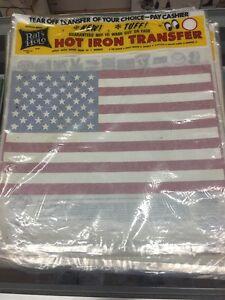 Vintage American Flag Iron On Transfer by Rat's Hole Rats Daytona Beach