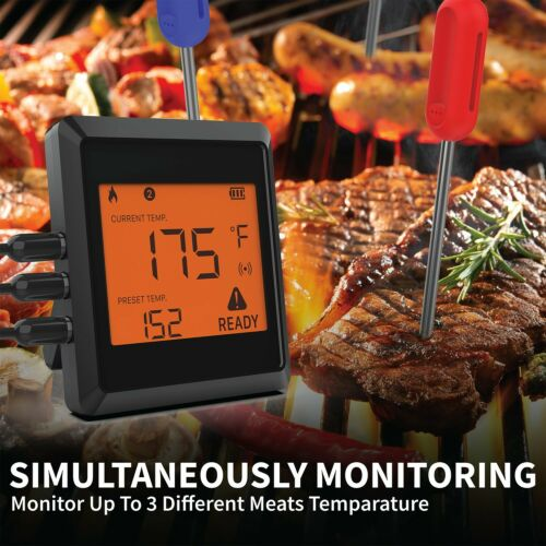 Garnen Bluetooth Wireless 3 Probe Meat Grill Cooking Kitchen Smart Thermometer