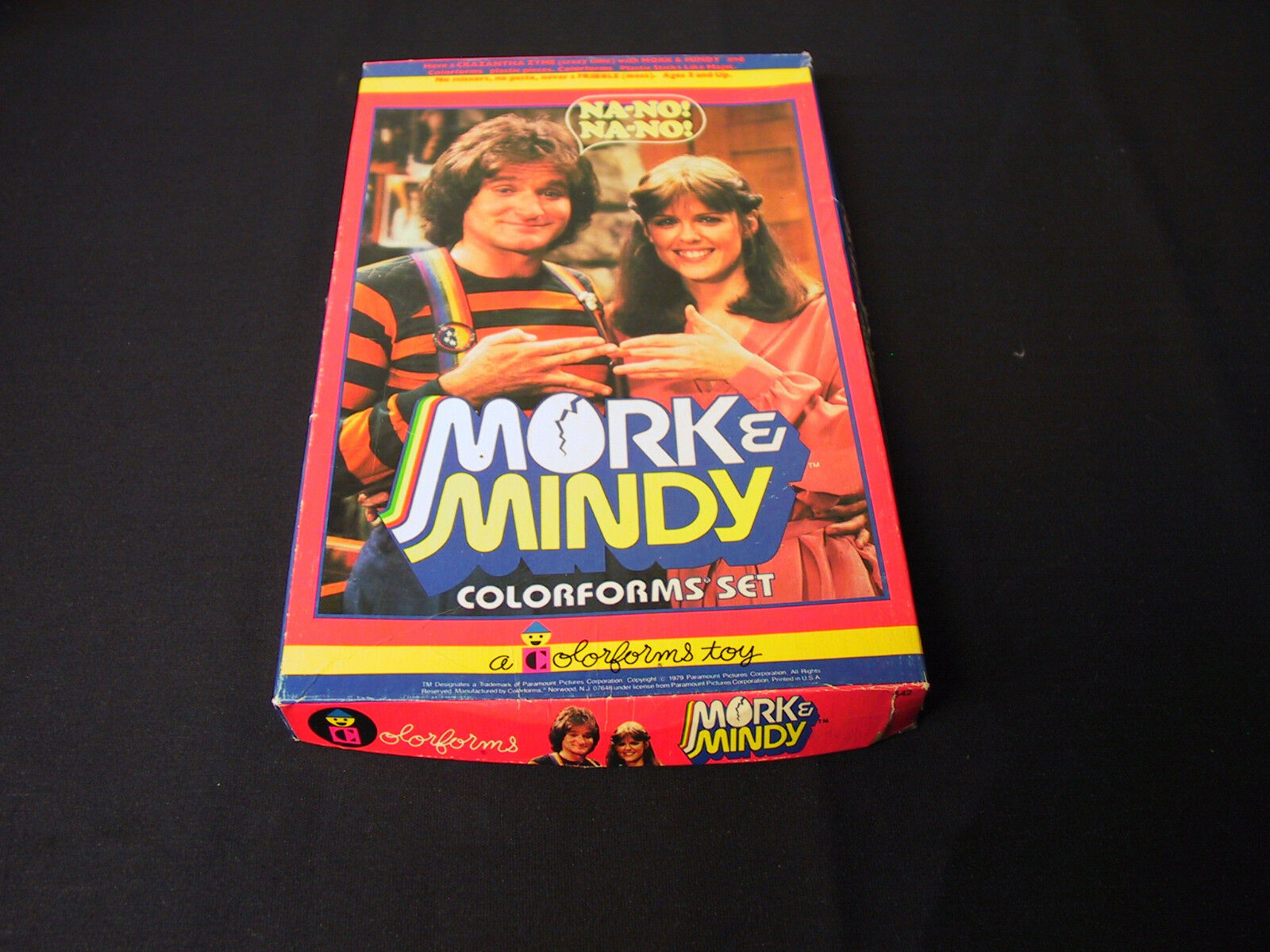 MORK AND MINDY TV SHOW NANO COLORFORMS VINTAGE 1979 NOT COMPLETE SET BOX NO BOOK