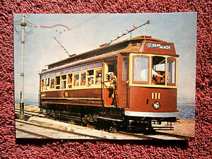 ELTYPE  No. 111 TRAM  SOUTH PACIFIC ELECTRIC RAILWAY  COLOUR  POSTCARD