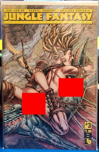 JUNGLE FANTASY IVORY 3 WRAP NUDE VARIANT BOUNDLESS VF//NM