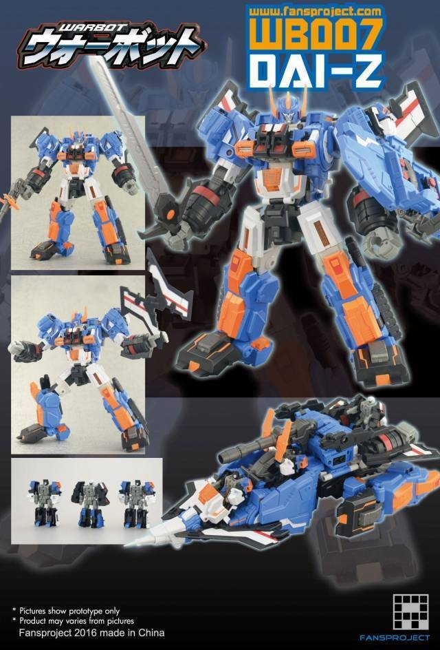 FANSPROJECT WARBOT WB007 BY-Z TRANSFORMERS NEW