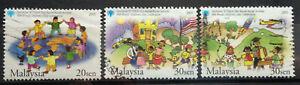Malaysia Used Stamp - 3 pcs 2003 50th World Children's Day Celebration