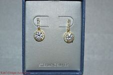 925 Gold Tone Plated Over Sterling Silver Crystal Drop Dangling Fashion Earrings