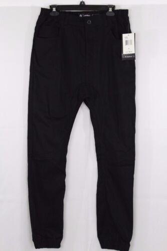 MENS AKADEMIKS WOVEN JOGGER PANTS BLACK SIZE S~XL (#024)