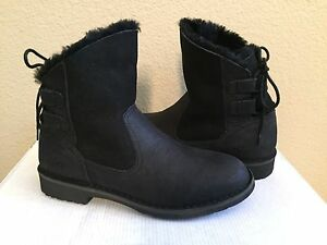 f866dc09a9a Details about UGG NAIYAH BLACK SHEARLING LINED BOOTS US 11 / EU 42 / UK 9.5  NEW