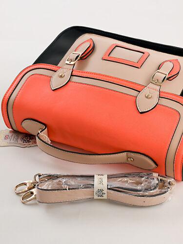 Messenger College Bag Schultertasche Crossbody Bag Schwarz Design by LYDC 283SP