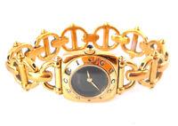 GUCCI 6400 L Damen Armband Uhr Zifferblatt schwarz /GUCCI LADIES-WOMENS  WATCH