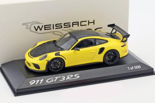 schwarz 1:43 Minichamps Porsche 911 GT3 RS Weissach Package gelb 991 II