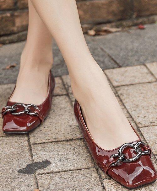 Ballerine mocassini zapatos zapatos zapatos basse bordeaux eleganti  simil pelle comode CW985  Venta barata