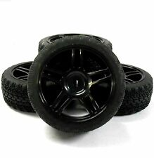 A20151 1/10 On Road Soft Tread Car RC Wheels and Tyres 5 Twin Spoke Black x 4