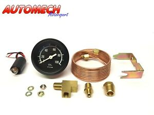 Tim-52mm-Oil-Press-Pressure-Gauge-KIT-Various-Fittings-amp-Pipe-700005