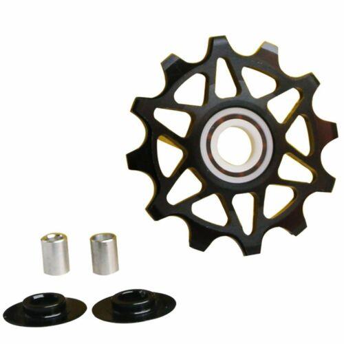 Road Bike Guide Roller Ceramic Bearing Pulley CNC Aluminum Wheel Rear Derailleur