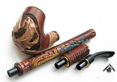 "UNIQUE HAND CARVED Wooden Long Tobacco Smoking Pipe/Pipes/HOOKAH ""Dargon"" #2"