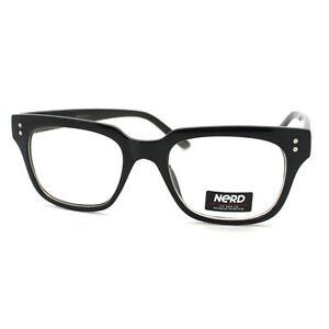 Unisex-Nerd-Eyeglasses-Chic-Horn-Rimmed-Clear-Lens-Frames-4-Colors