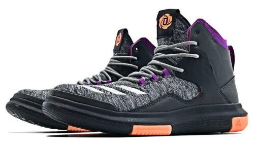 New Adidas D Rose Lakeshore Basket on Trainers Black Red UK sizes 8 9 10 11