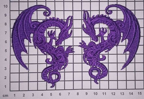 Mini Embroidered Baroque//Tattoo style Motif Dragon//Phoenix//Skull//Bat//Bluebird
