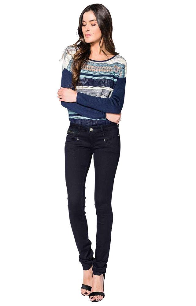 Freeman T. T. T. Porter Alexa Super Stretch Denim flora Damen Jeans Hose XS-XL   99 95 dcab7e